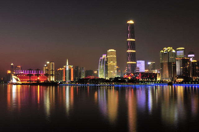 Pearl River Nightview Skyline, Guanghhou, China  _HXT2377