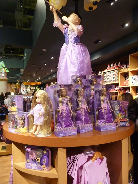 Tangled Merchandise Stand at Disney Store Times Square