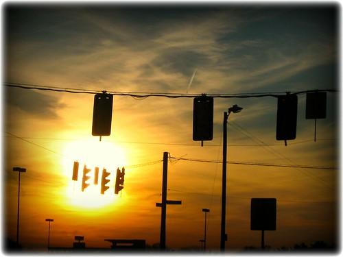 sunset lights traffic silhouettes commute dcist friday dcmetro flipmode79