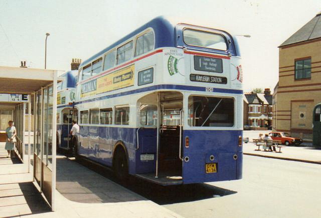101, OYM 413A, AEC Routemaster, Park Royal Body H36-28R, 1959 (t.1989) (Ex-VLT 12)