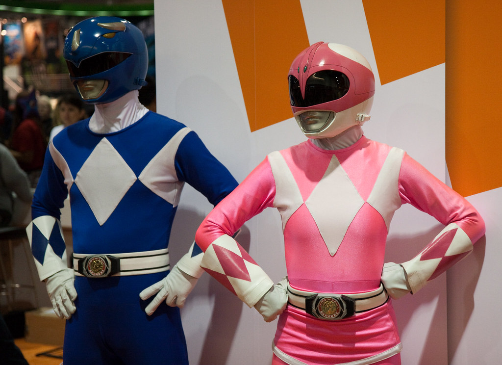 Pink and Blue Power Rangers