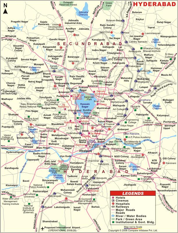 Hyderabad Map on islamabad map, peshawar map, colombo map, karachi map, trivandrum map, anantapur district map, south asia map, assam map, courtallam map, ahmedabad gujarat map, magarpatta map, andhra pradesh map, dhaka map, myanmar map, saddar map, chennai map, duqm map, chhatrapati shivaji international airport map, india map, lahore map,