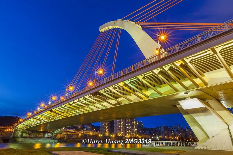 2_MG_3319,台北,大直橋,橋樑,建築,基隆河,河流,黃昏,夜景,河濱公園,公園,綠地,台北市,Bridge,Taipei