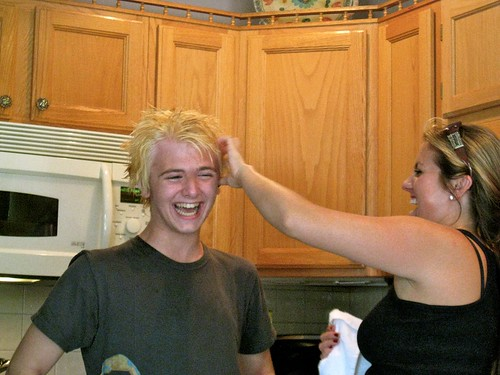 My son JCH [age 14] - dying his hair | by Meleah Rebeccah