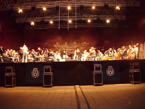 Ensayos con la Sinfónica de Tenerife