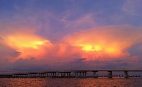 trees sunset sky storm sunshine clouds sunrise river sand florida horizon tropical bradenton