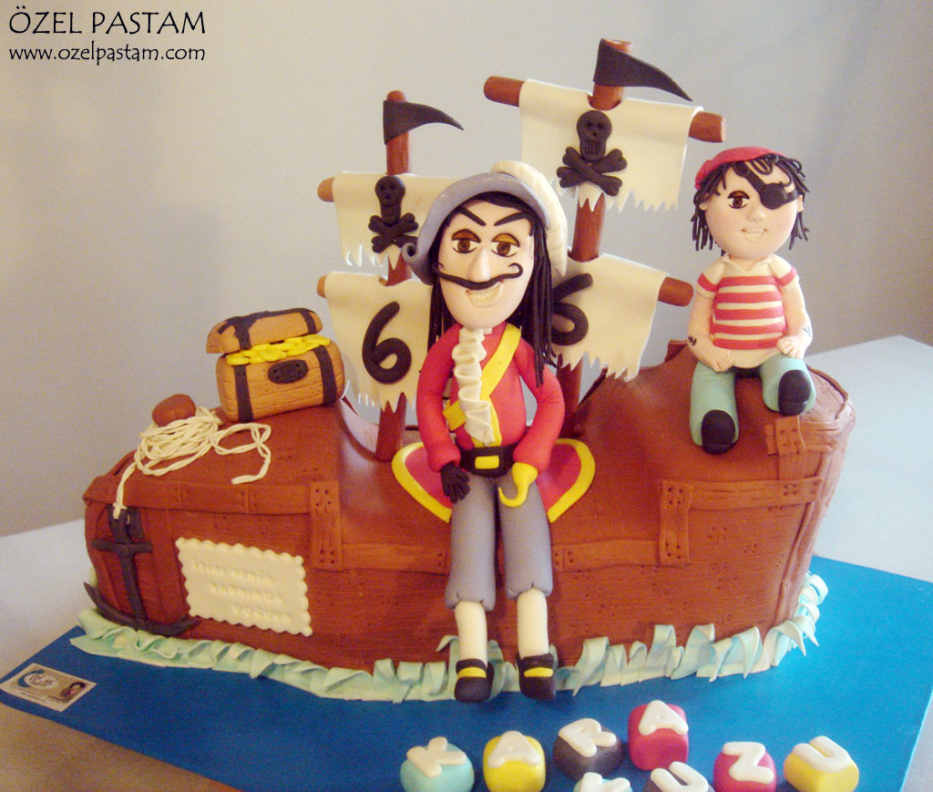Surprising Kaptan Kanca Ve Eminin Pasta Captain Hook Cake Yasemin Flickr Personalised Birthday Cards Arneslily Jamesorg