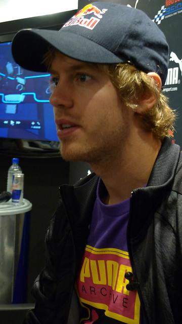 Interviewing Sebastian Vettel