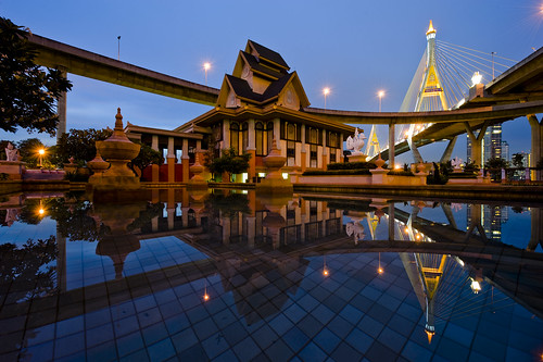 Saphan Bhumibol at Dusk - Bangkok | by DeeMakMak