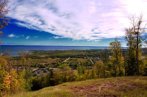 ontario canada fall collingwood hills hdr bluemountain