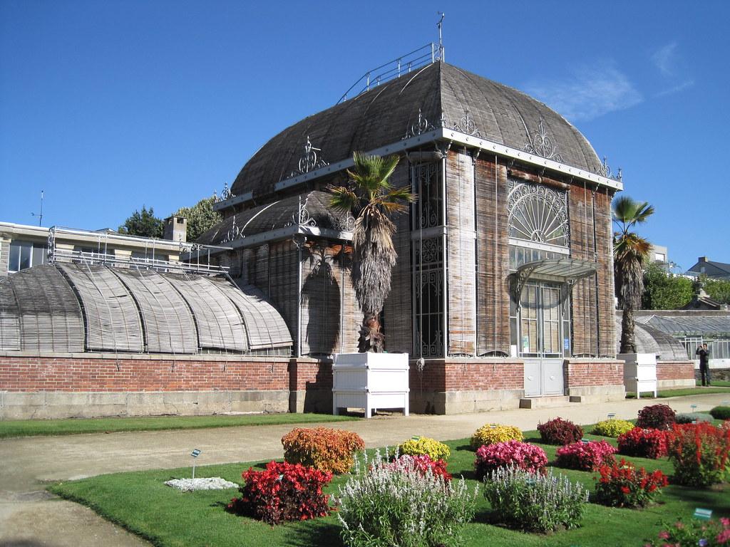 Jardin des Plantes de Nantes - Vue extérieure du palmarium ...