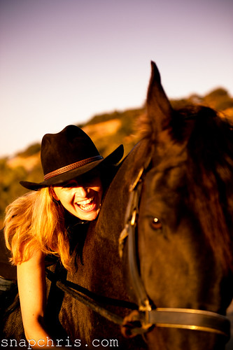 Beautiful girl and her pretty Friesian horse | by tibchris