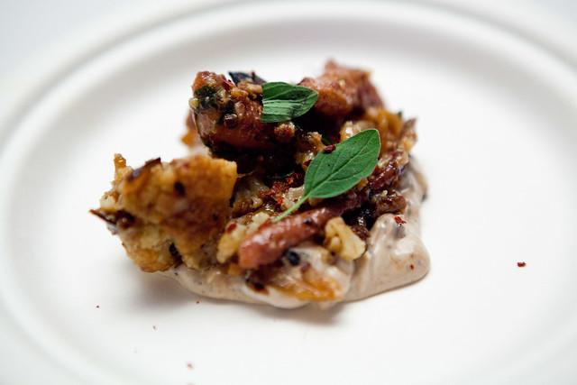 Vinegar Hill House's dish: Octopus, charred lemon yogurt, dehydrated taggiasca olives