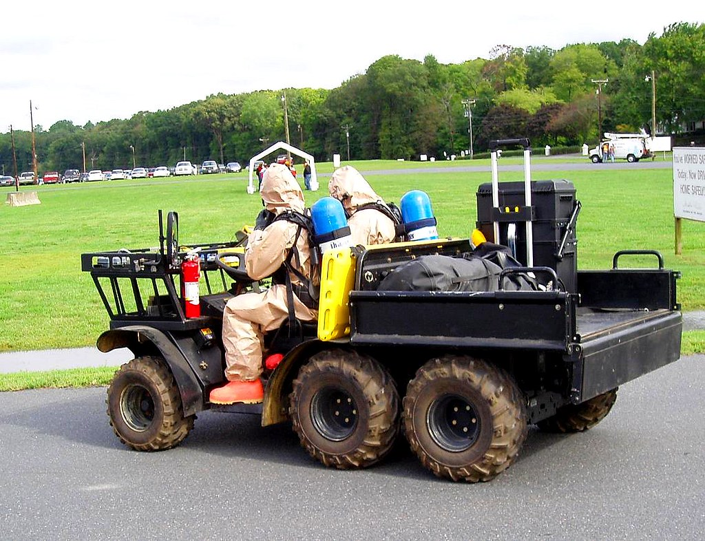 Bio-Terrorism Drill - Soldiers of the US Army 33rd WMD-CST W