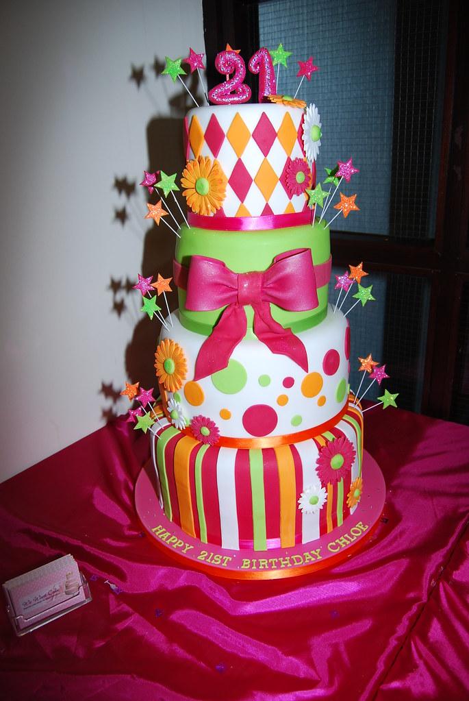 4 Double Tier Birthday Cake