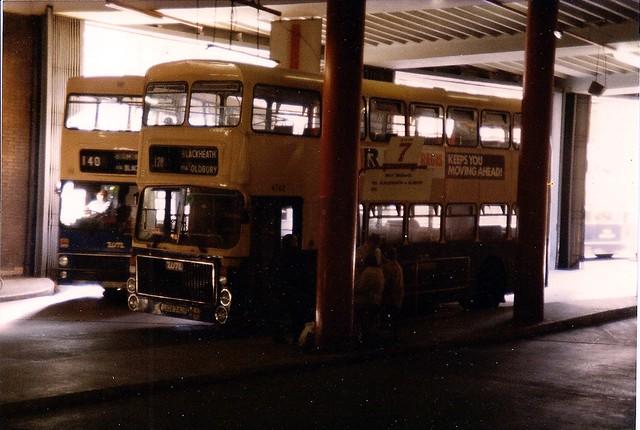 Volvo Ailsa inside Birmingham Bull Ring Bus Station
