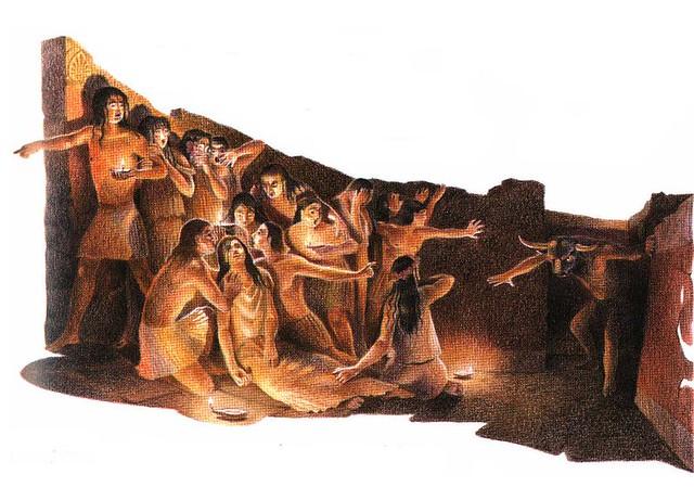 El Minotauro y los 14 jóvenes