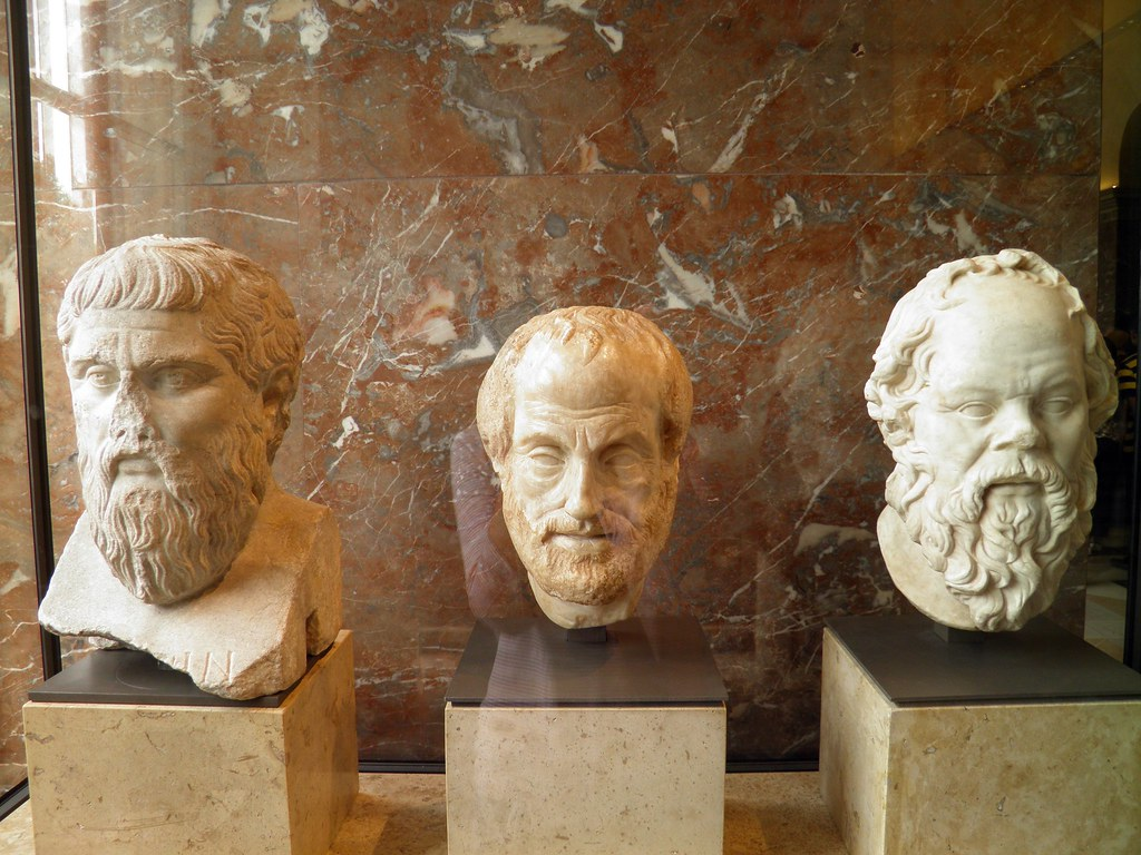 Plato Aristotle Socrates Louvre Museum From Left To Rig