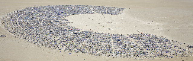Black Rock City-Burning Man 2010 - View From Above :)