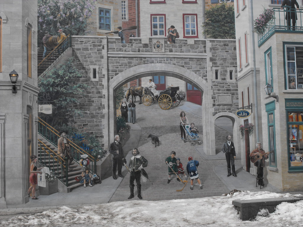 Nice Wall Painting In Quebec City Nice Wall Painting In Qu Flickr