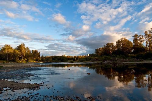 sky clouds river washington nuclear coolingtowers satsop satsopriver satsopnuclearpowerplant