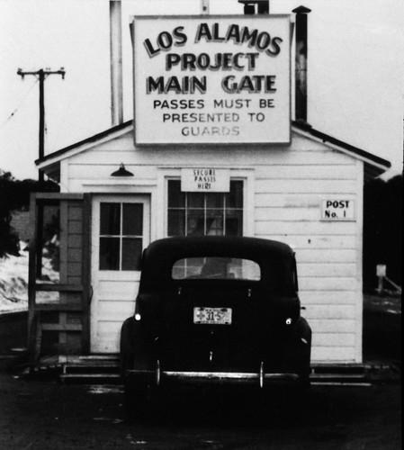1943 Los Alamos Project Main Gate