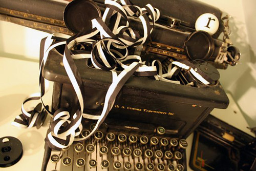 mess of typewriter ribbon | the both and | shorts and longs | julie rybarczyk | by shorts and longs