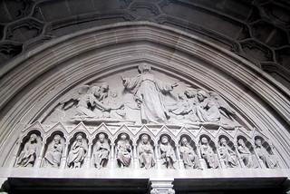 NYC - FiDi: Trinity Church - Tympanum   by wallyg