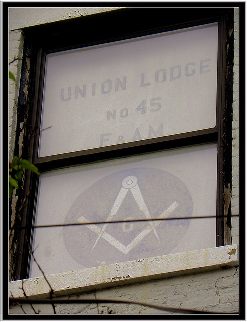 Lima NY ~ Masonic Lodge ~ Former ~ No idea how old this sign is.