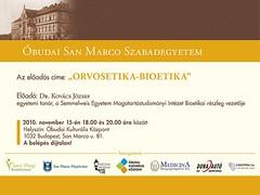 2010. november 14. 14:14 - San Marco Szabadegyetem: Dr. Kovács József