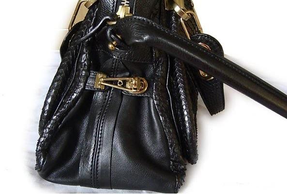 2741b8706a6 ... fake Chloe Paraty python bag black12
