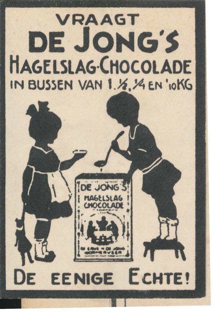 sluitzegel de Jongs cacao 1920ies