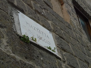 Street name on a wall in Italy