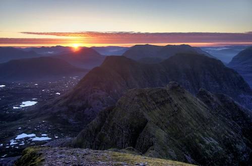 sunrise landscape scotland ross torridon wester beinn alligin