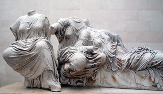 Phidias, Parthenon, Detail of the East Pediment Sculpture (Hestia, Dione, Aphrodite?) | by profzucker