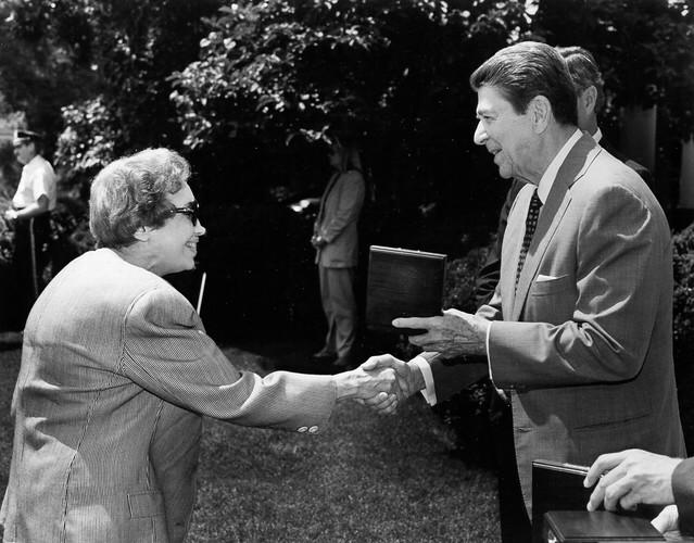 Anne Anastasi with Ronald Reagan