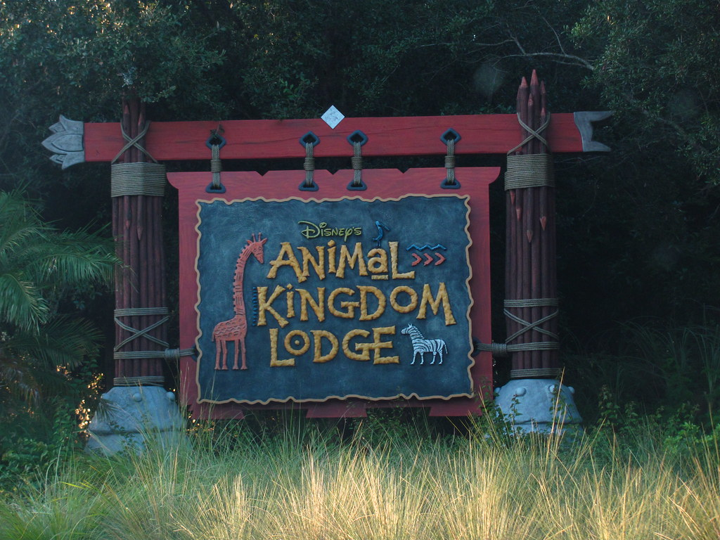 Entering the Animal Kingdom Lodge