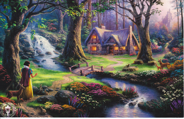 Thomas Kinkade Snow White Postcard