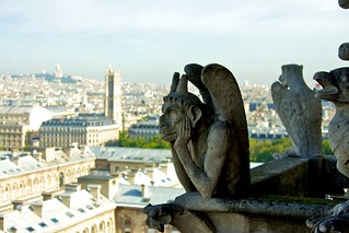 Bored Gargoyle of Notre Dame | by levork