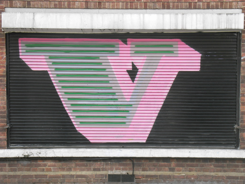 Painted shutter letters v by catherine dixon