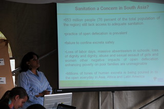 Ms. Pradnya Thakur, Ecosan Services Foundation - India, sharing experiences in Community Led Total Sanitation (CLTS) Campaign in Asian countries | by Sustainable sanitation
