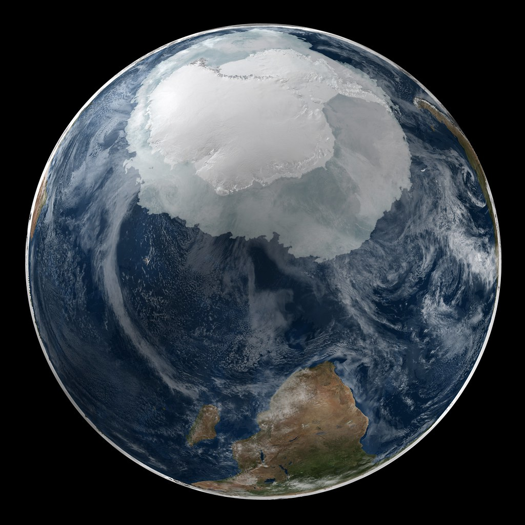Global View Of The Arctic And Antarctic On September 21 2