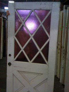 Dude! Purple glass crossbuck door, from rumpus room to garden | by blastmilk