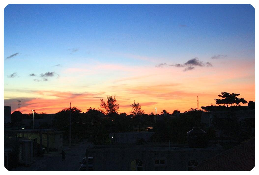 Sunset over Playa