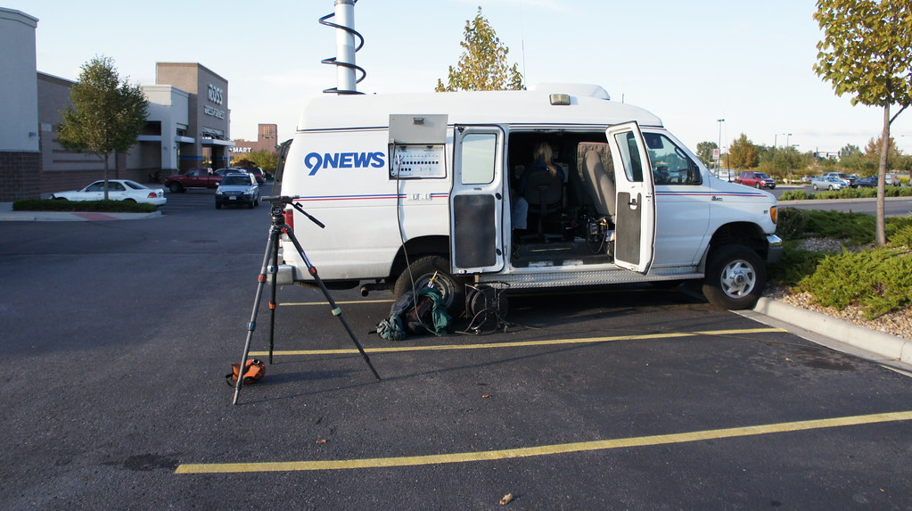 Corey Rose in the KUSA 9News van (ENG Truck) | One of KUSA 9