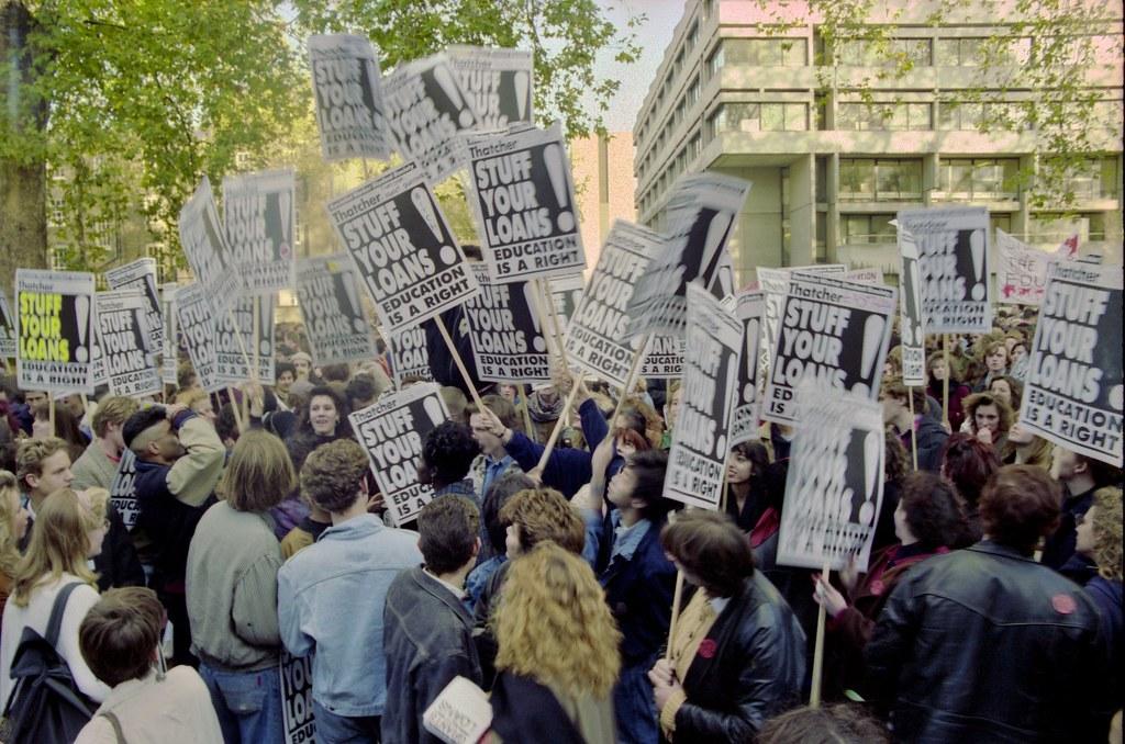 Anti-Student Loans Demo, November 1989