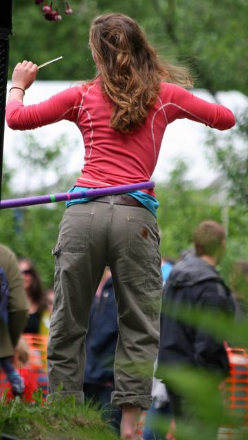 Hula-hoop dancer at the 2010 Forest Fair in Girdwood