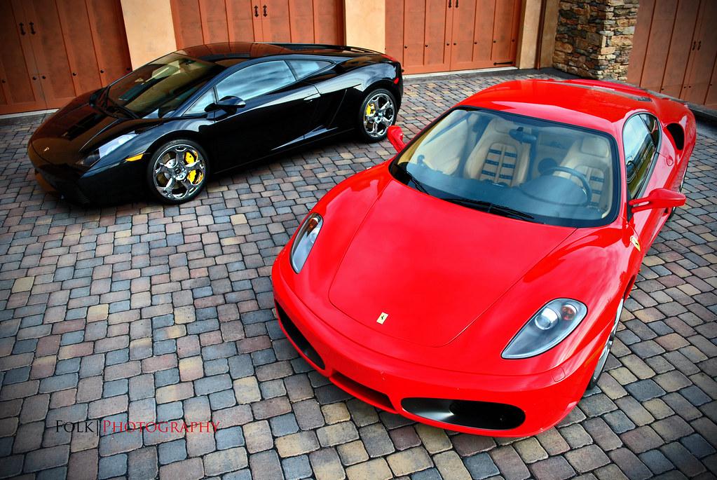 Lamborghini Gallardo And Ferrari F430 An Oldie But A Goodi Flickr