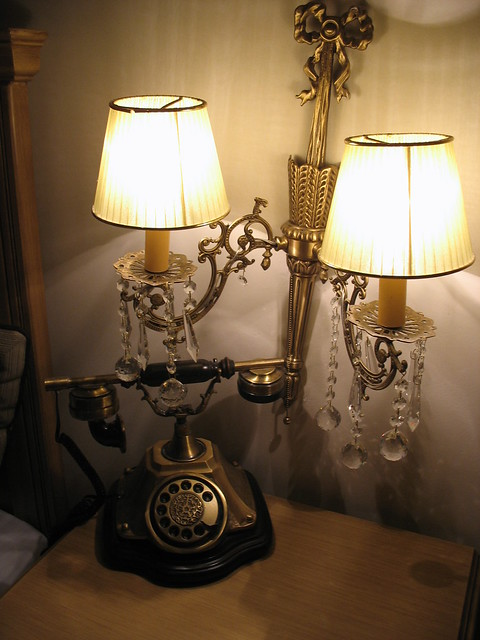 A very old-fashioned telephone