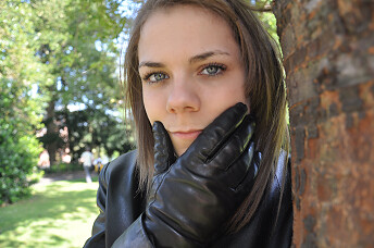 check out later new appearance Girl in leather gloves and jacket (18+ years) | View Full Si ...